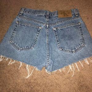 Highwaisted Calvin Klein Jean Shorts